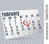 february 9.calendar icon.date...
