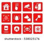 home security icons set.... | Shutterstock .eps vector #538025176