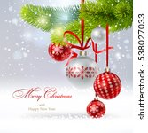 christmas background with a...   Shutterstock .eps vector #538027033