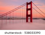 first tower of the golden gate... | Shutterstock . vector #538033390