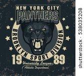 panther sport t shirt graphics  ... | Shutterstock . vector #538035208