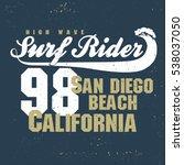 surfing t shirt graphic design. ... | Shutterstock . vector #538037050