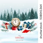 holiday background with... | Shutterstock .eps vector #538041364
