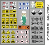 dangerous goods and hazardous... | Shutterstock .eps vector #538049050