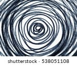 hand drawn circles spiral... | Shutterstock . vector #538051108