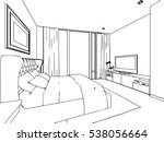 outline sketch drawing... | Shutterstock .eps vector #538056664