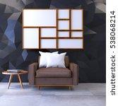 modern loft interior with mock... | Shutterstock . vector #538068214