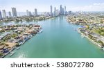 aerial view of gold coast... | Shutterstock . vector #538072780
