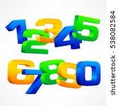 alphabet isometric numbers. set ... | Shutterstock .eps vector #538082584