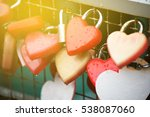 Red Heart Shaped Lock Padlock...