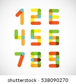 abstract digital numbers.... | Shutterstock .eps vector #538090270