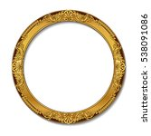round frame gold color with... | Shutterstock .eps vector #538091086