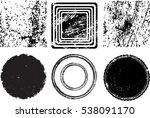 grunge post stamps collection ... | Shutterstock .eps vector #538091170