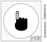 bandaged finger icon | Shutterstock .eps vector #538093576