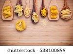 italian foods concept and menu... | Shutterstock . vector #538100899