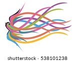 the concept of freedom. rainbow ... | Shutterstock .eps vector #538101238