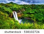 wailua falls  kauai  hi | Shutterstock . vector #538102726