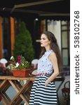 young beautiful stylish woman... | Shutterstock . vector #538102768