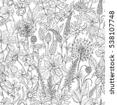hand drawn seamless pattern... | Shutterstock .eps vector #538107748