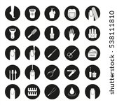 manicure and pedicure icons set.... | Shutterstock .eps vector #538111810