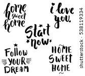 lettering set | Shutterstock .eps vector #538119334