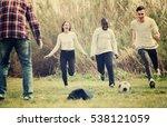 group of smiling  teenage... | Shutterstock . vector #538121059