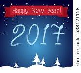postcard happy new year  | Shutterstock .eps vector #538121158
