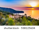 beautiful sunset at the coast... | Shutterstock . vector #538125634