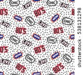 seamless pattern with labels.... | Shutterstock .eps vector #538131298
