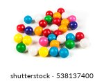 Multicolored Gum Balls Isolate...
