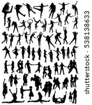 dancing silhouettes | Shutterstock .eps vector #538138633