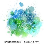 Watercolor Christmas Backgroun...