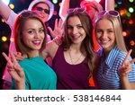 group of happy girls posing in... | Shutterstock . vector #538146844