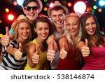 group of happy friends posing... | Shutterstock . vector #538146874