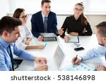 business people having a... | Shutterstock . vector #538146898