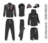 set of sportswear  illustration ... | Shutterstock .eps vector #538148020