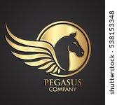 3d Golden Winged Horse Pegasus...