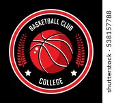 basketball logo  american logo  ... | Shutterstock .eps vector #538157788