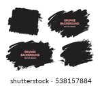 set of black paint  ink brush... | Shutterstock .eps vector #538157884