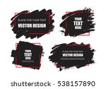 set of black paint  ink brush... | Shutterstock .eps vector #538157890