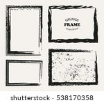set of grunge frames.distress... | Shutterstock .eps vector #538170358