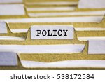 Small photo of Policy word on card index paper