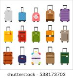 various travel luggage bag...   Shutterstock .eps vector #538173703