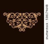 gold vintage baroque ornament...   Shutterstock .eps vector #538174648