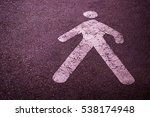 pedestrian sign on the road | Shutterstock . vector #538174948