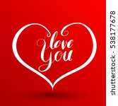 heart typography and love... | Shutterstock .eps vector #538177678