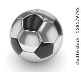 silver soccer ball on white... | Shutterstock . vector #538179793