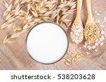 closeup of oat milk  the... | Shutterstock . vector #538203628