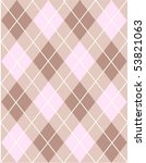 Brown And Pink Argyle Background