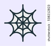 spider web minimal color flat... | Shutterstock .eps vector #538212823